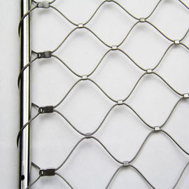304 Stainless Steel Balustrade Cable Mesh Strong Toughness Environmental Protection